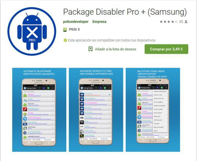 quitar aplicaciones preinstaladas de tu smartphone-Samsung