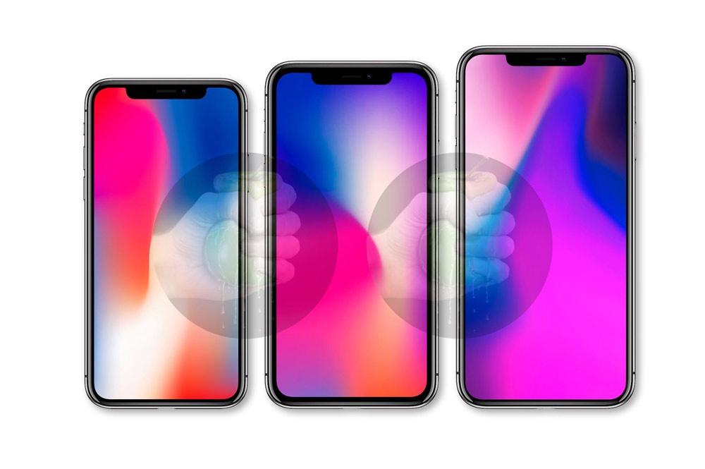 Tamaño de los iPhones de 2018