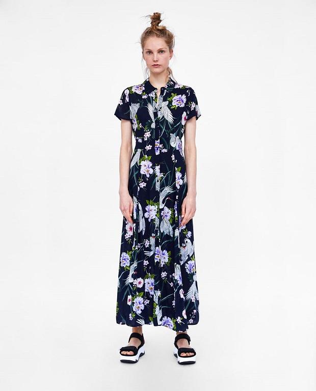 9d68d7fb7 ... rebajas de Zara vestidos verano 2018