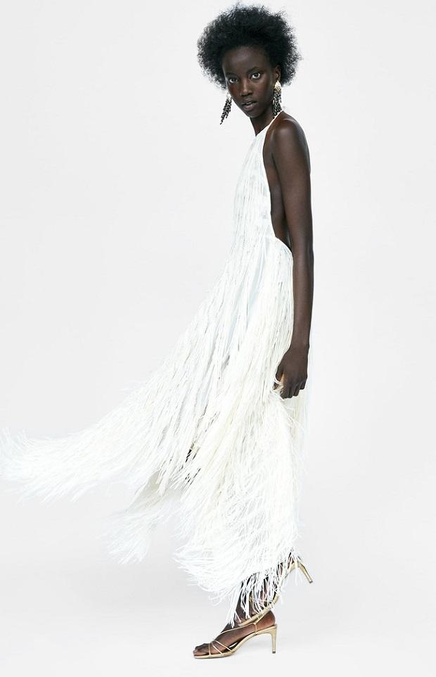 De Vestido Vestido Zara De Flecos EqzPwOOn4x