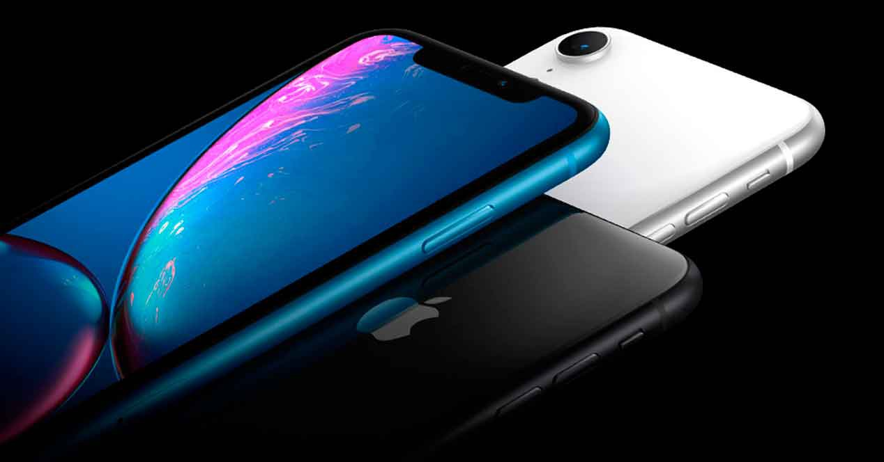 caída accidental del iPhone XR