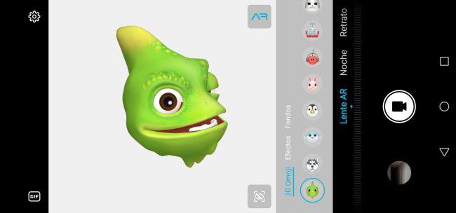 Honor View20 Opciones de cámara emoji