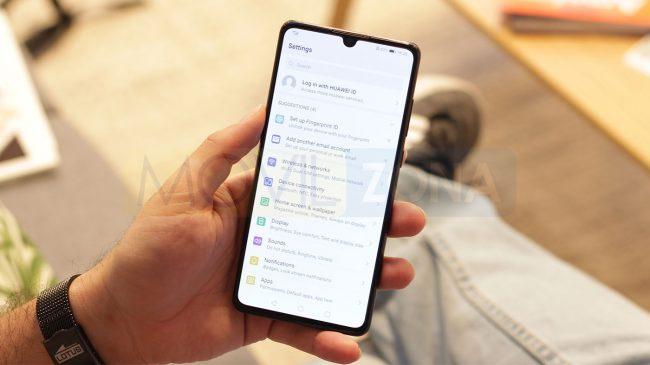 Huawei P30 opciones de Android