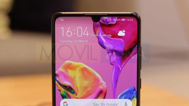 Huawei P30 notch