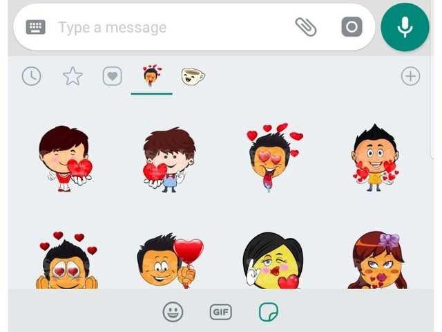 pegatinas amor whatsapp