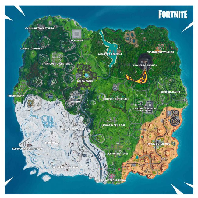 mapa fortnite temporada 9