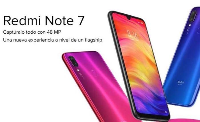 Frontal y trasera en dos colores del Redmi Note 7