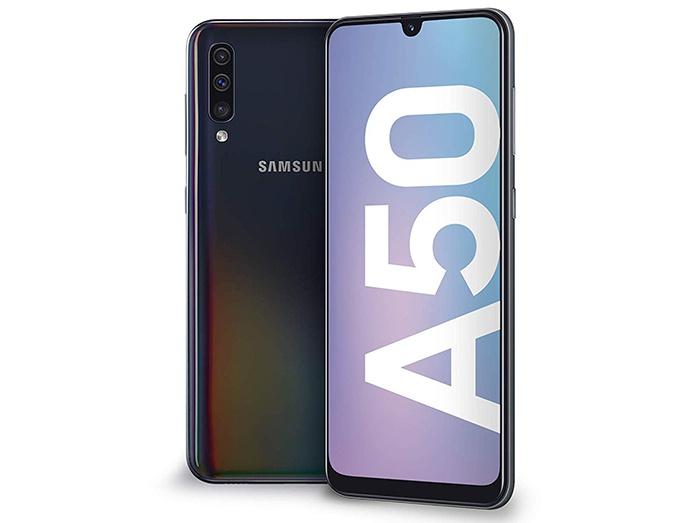 frontal y trasera de Samsung Galaxy A50