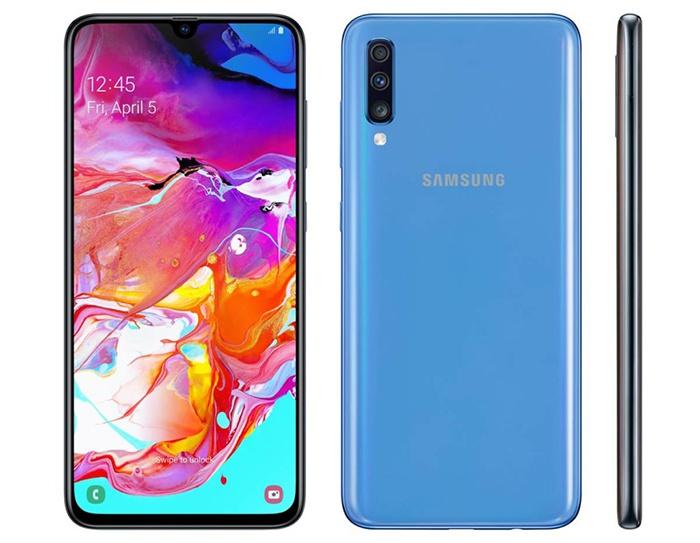 Frontal y trasera Samsung Galaxy A70