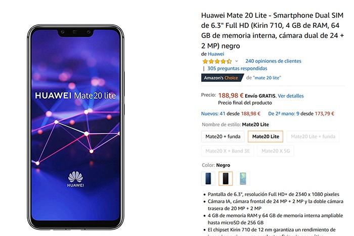 Precio de oferta en el Huawei Mate 20 Lite