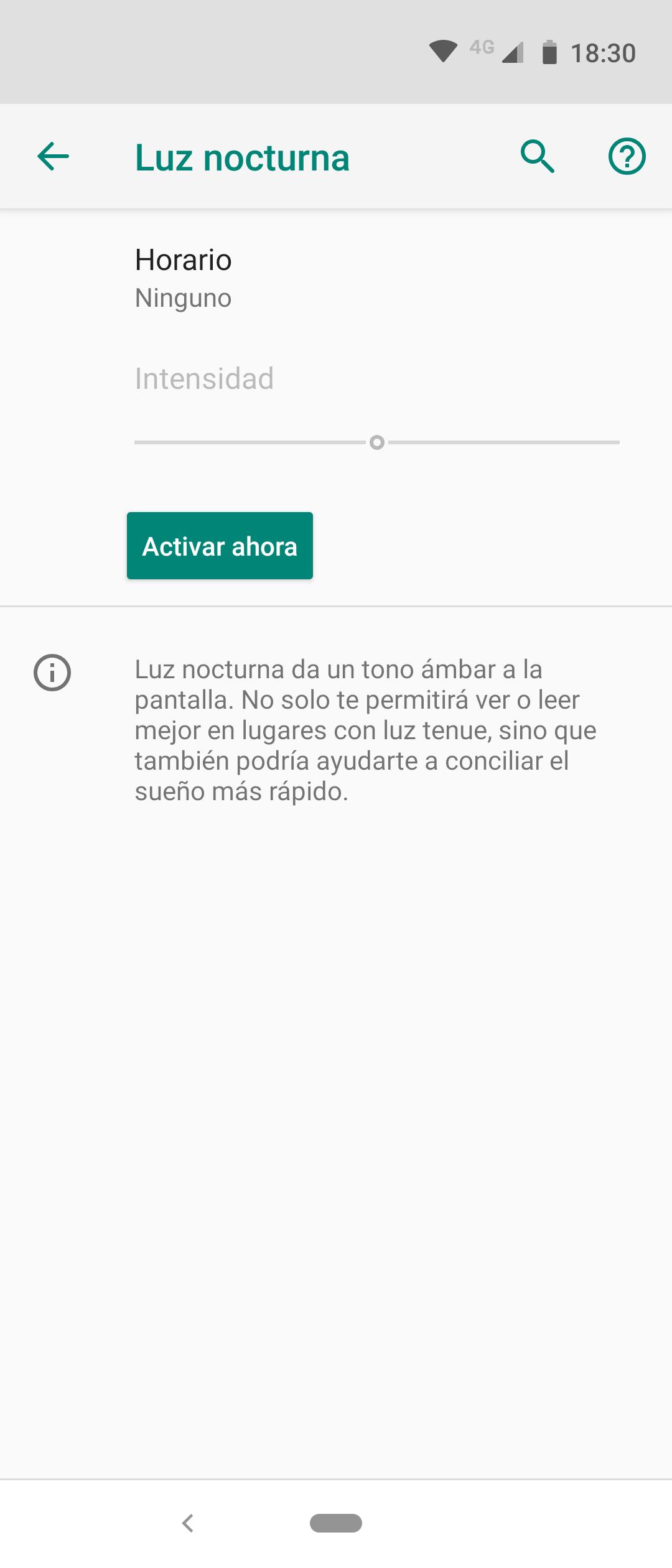 Opciones pantalla Motorola One Action