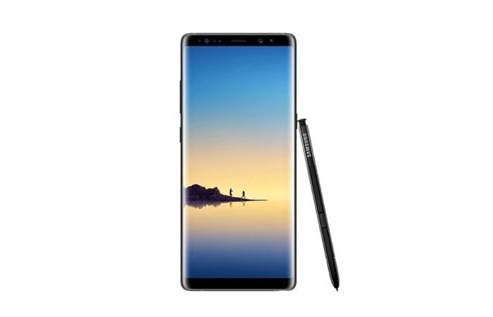 Frontal Samsung Galaxy Note 8 con S-Pen