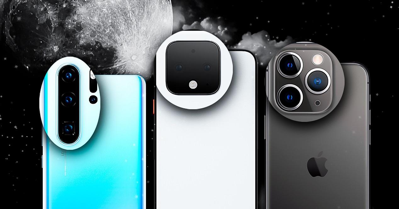 Modo noche pixel 4 p30 pro y iphone 11 pro
