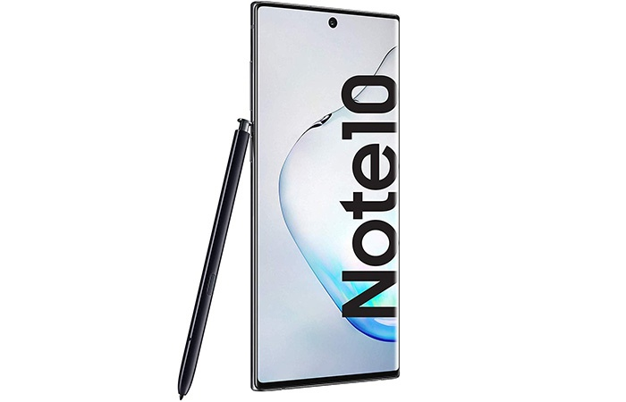frontal samsung galaxy note 10 plus