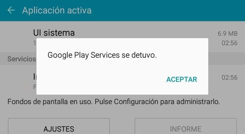 google play services se detuvo