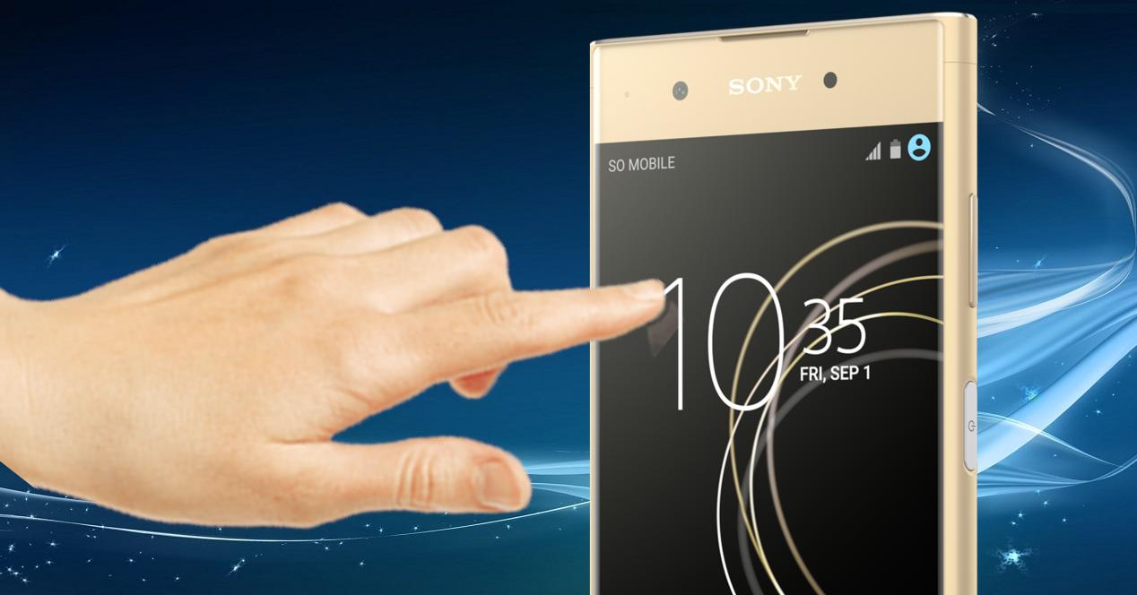 Sony Xperia XA1 dedo pantalla