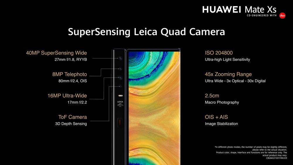 Huawei Mate XS cámaras